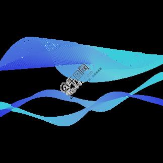 蓝色科技渐变曲线矢量图