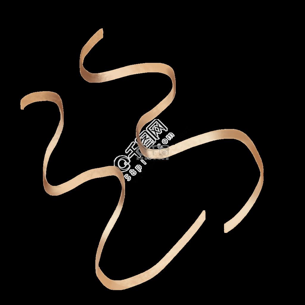 金色丝带元素PNG