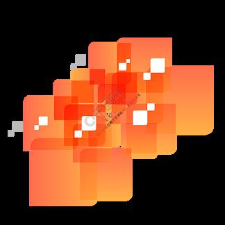 橙色个性渐变商务装饰图案