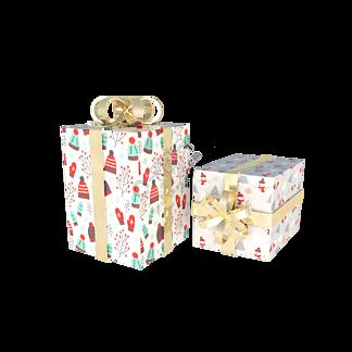 小清新包装礼盒纸盒C4D圣诞节礼物盒
