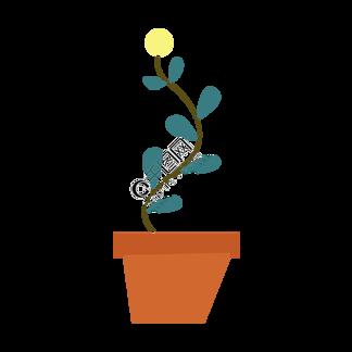 手绘卡通可爱小清新小黄花朵