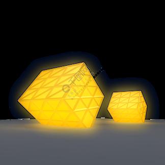 建筑雕塑灯光金色雕塑创意礼品3d打印PNG免扣