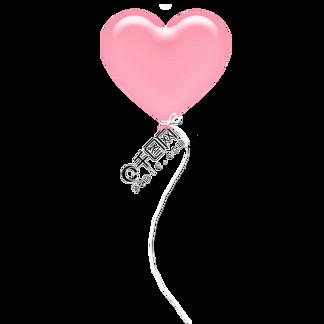 发光的粉色爱心气球免抠图