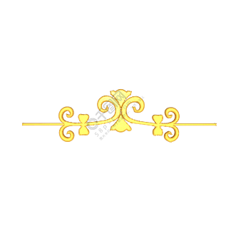 C4D立体金色欧式分割线