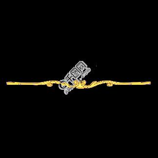 C4D立体金色装饰分割线