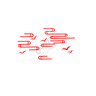 红色祥云飞燕PNG