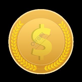 新年节日狂欢金币钱币矢量元素