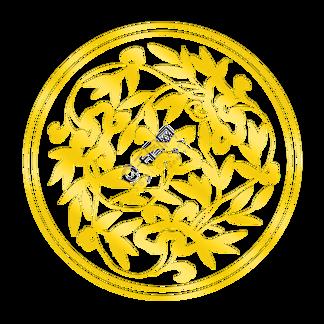 手绘插图金色烫金花纹PSD源文件