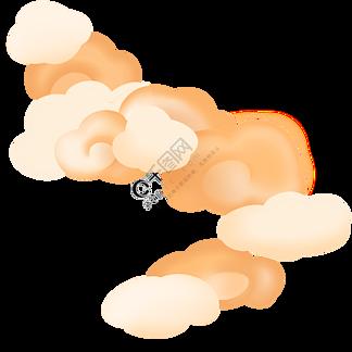 云祥云金色暖色中国风云朵