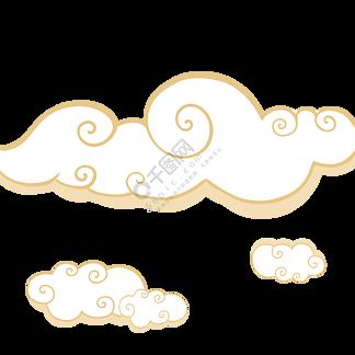 云朵吉祥云金色装饰