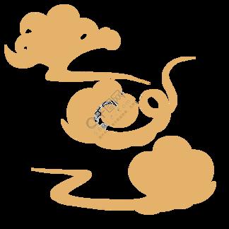 云彩云朵云纹金色古典中国风