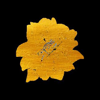 剪纸烫金花草桃花