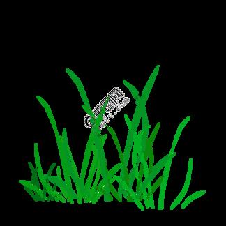 简约绿色小草插画海报免抠元素