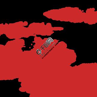 简约红色云彩插画海报免抠元素