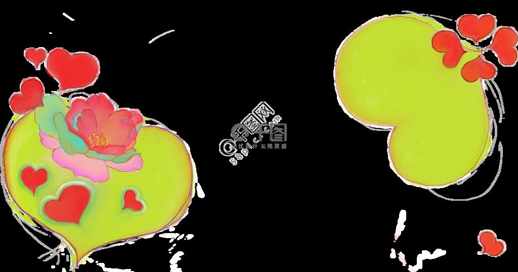 情人节女神节爱心玫瑰卡通装饰