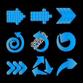 蓝色渐变电商科技感<i>箭</i><i>头</i>元素