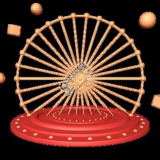 C4D红金色立体舞台圆盘底盘免抠图元素
