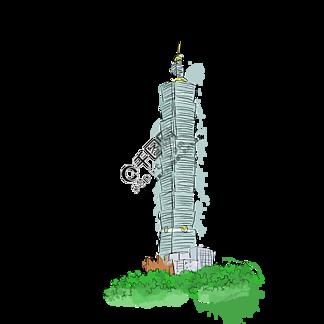 地标性建筑台北插画