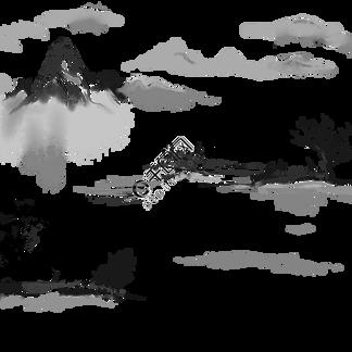 水墨中国风山水精致背景装饰