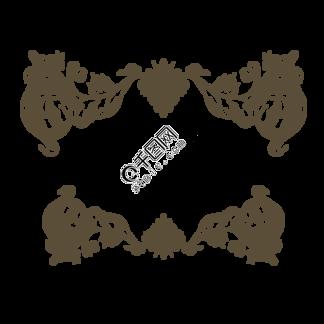 墨色边框欧式花纹元素
