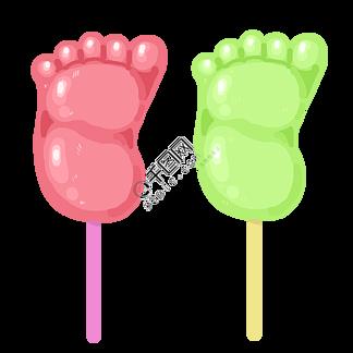 脚丫子棒棒糖插画