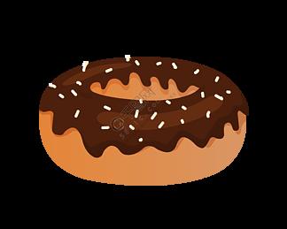 卡通黄色甜甜圈插图