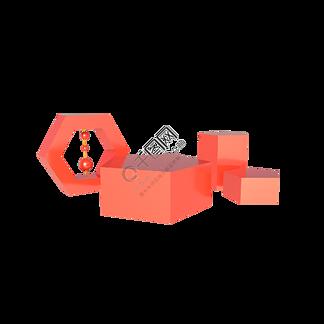 C4D立体电商红色系促销展台