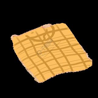 黄色的被子免抠图