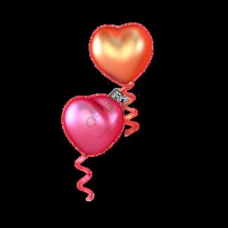 彩色?#19981;?#24515;形气球元素