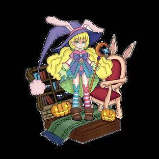 手绘游戏原画人物设定可爱魔法少女免费下载