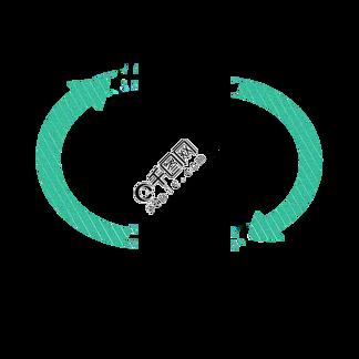 绿色循环箭头简约图形装饰