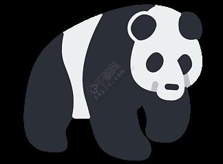 黑色的熊猫装饰插画