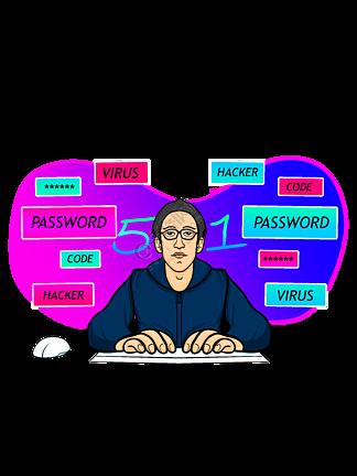 IT碼農時尚計算機電腦五一勞動節PNG當代