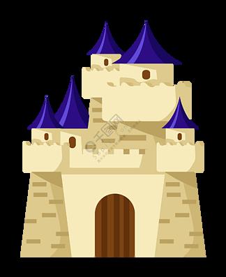 古老的城堡装饰插画