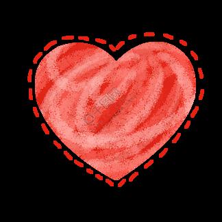 唯美爱心心形插画