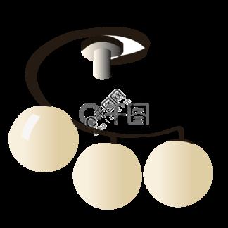 圆形餐厅台灯插图