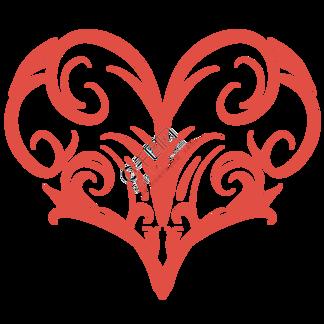 创意红色的心形插画