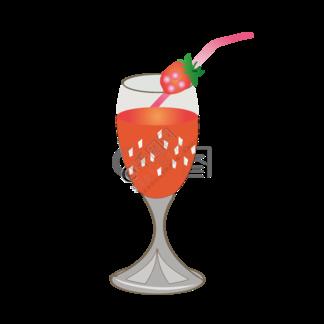 手绘矢量可爱E夏日草莓冷饮