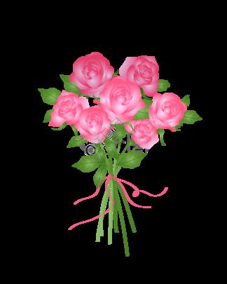小清新手绘矢量粉玫瑰花