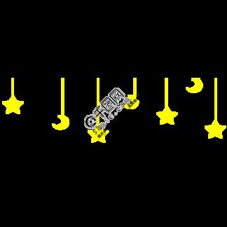 黄色星星月亮装饰