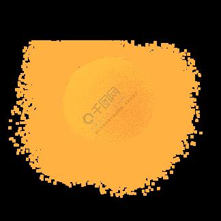 黃色圓弧太陽元素