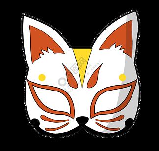 日本面具卡通装饰
