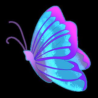 飞舞昆虫蝴蝶插画