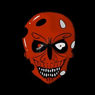 红色骷髅卡通面具