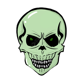 可怕骷髅卡通面具