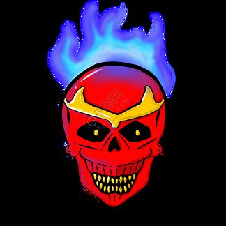 火焰骷髅卡通面具