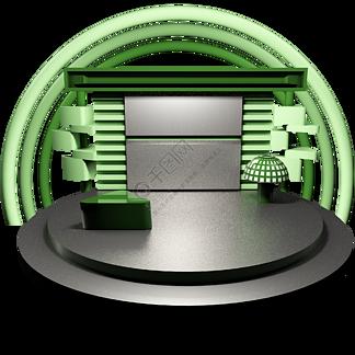 C4D电商绿色银色