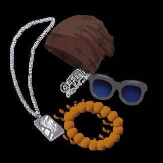 父亲节情人节男士礼物装饰搭配帽子眼镜免抠png