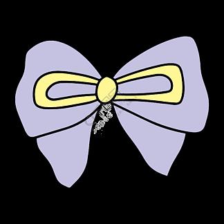 紫色少女蝴蝶结