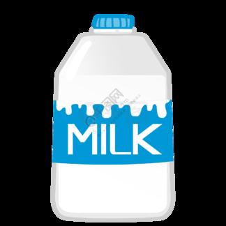 立体桶装牛奶图案